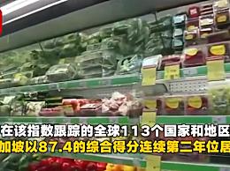 世界食品安全中国位列35位 新加坡连续2年第一