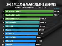 苹果哪一款产品性能最好?安兔兔iOS设备性能排行榜