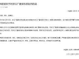 广厦男篮被罚100万 广厦男篮道歉并深刻反思