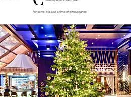全球最贵圣诞树 价值1190万英镑镶嵌蓝宝石钻石