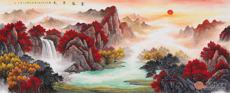 客厅挂什么画好 这几类题材山水画值得一看