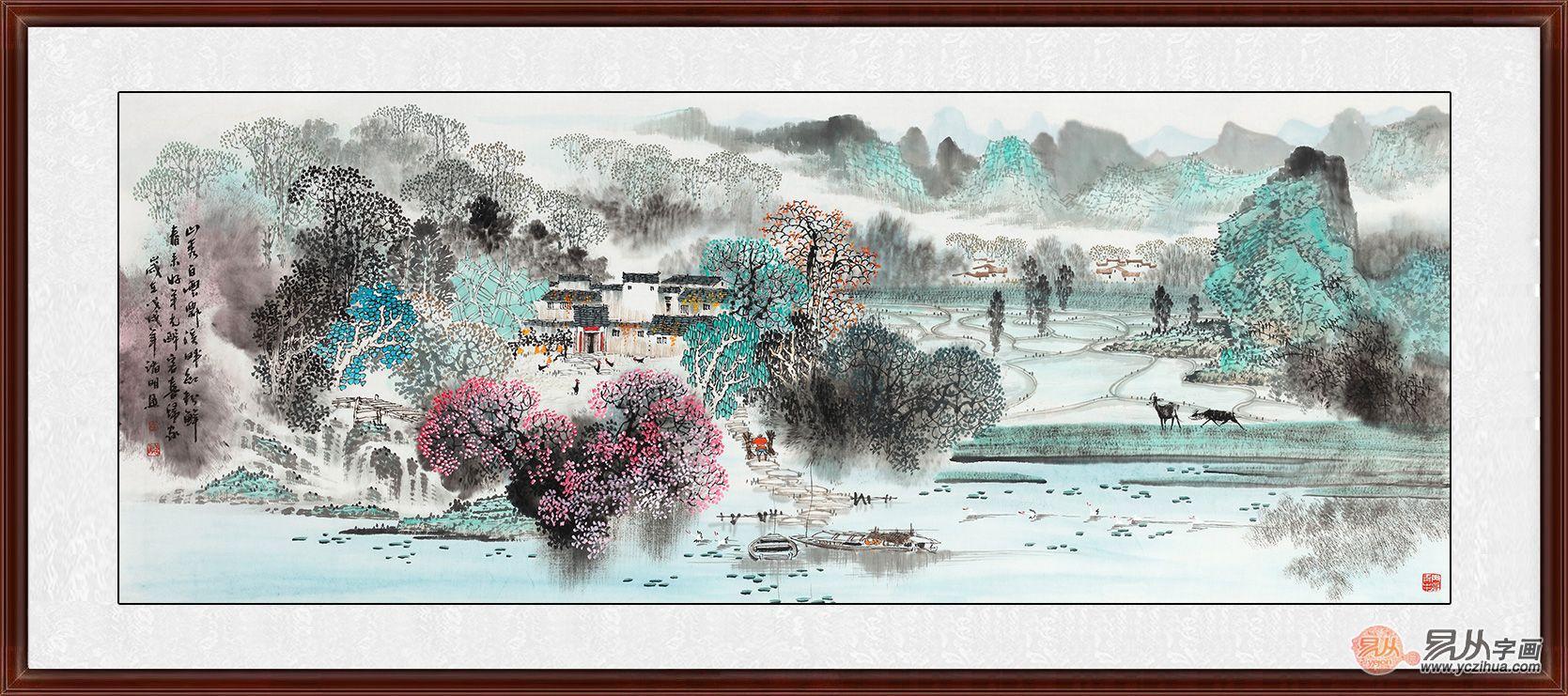 名家国画山水画欣赏,寓意深刻韵味佳