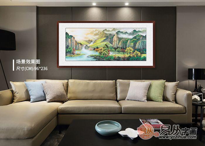选对客厅墙上装饰画,让家更温馨