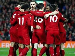 利物浦2-0谢菲联 11连胜领跑英超积分榜