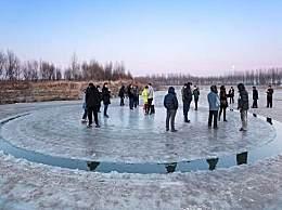沈阳河面旋转冰圈奇观 河面旋转冰圈是怎么形成的?