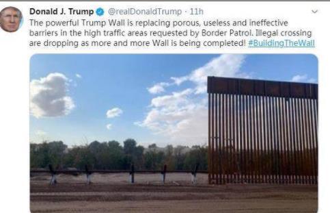 美总统赐名边境墙 特朗普竟然用自己的名字定义