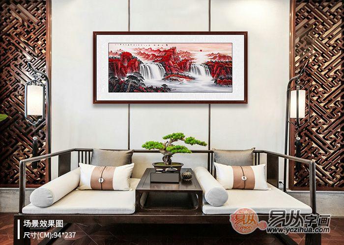 客厅装饰画选什么好?一幅名人写意画作,带给您居家新体验