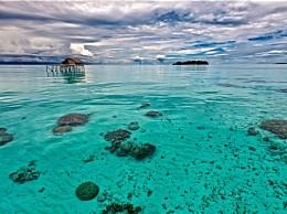 印尼两座小岛消失 气候变化导致海平面上升