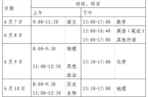 北京高考变为4天 2020年北京高考时间变为4天