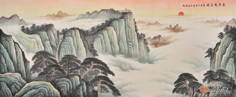 中式沙发背景墙挂画,营造典雅家居氛围