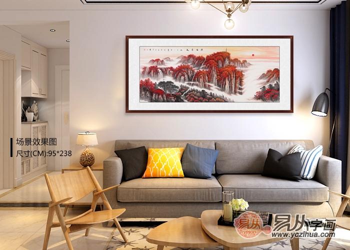 怎样选择家居装饰画更百搭?当然少不了李林宏的聚宝盆山水画