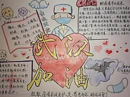 2020抗击疫情武汉加油手抄报 2020小学生抗击疫情手抄报素材