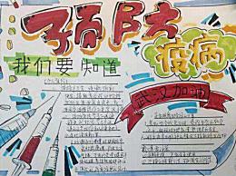 预防新冠状病毒肺炎手抄报图片画法 战胜疫情朋友圈励志文案
