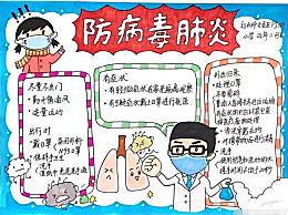 新型冠状病毒防治知识手抄报 防治新型冠状病毒手抄报大全