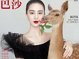 刘.诗诗二登《芭莎封面》 标志性的天鹅颈太美了
