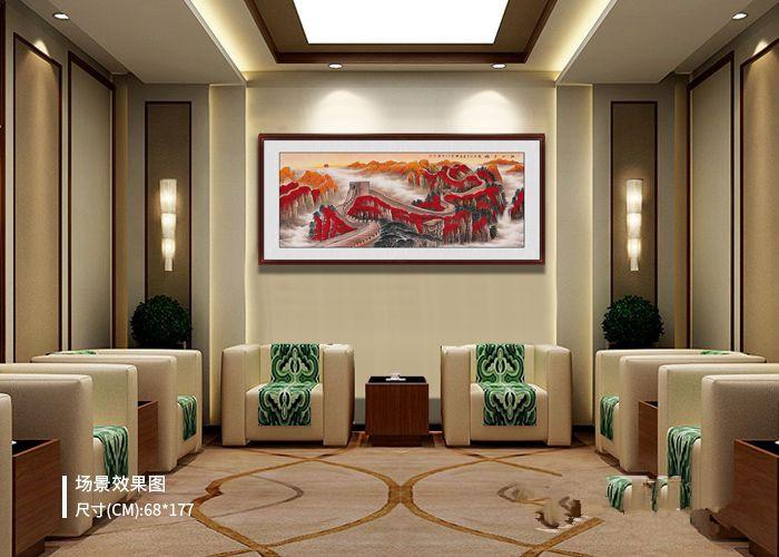 公司会客室怎样装饰更大气?名人手绘山水佳作,有品位!