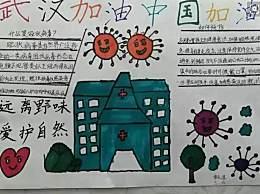 为武汉加油的简笔画手抄报 新冠疫情主题手抄报