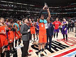 布里奇斯20+6+5获得MVP 在外线三分球三投全中