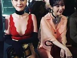 IU和泰国第一神美颜砍袖 一个性感一个清纯太A了