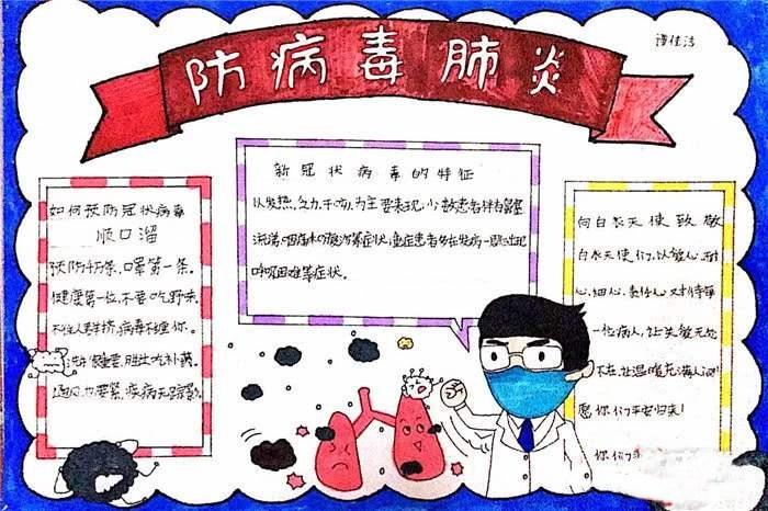 防控疫情预防病毒手抄报 为抗议医护加油祝福语