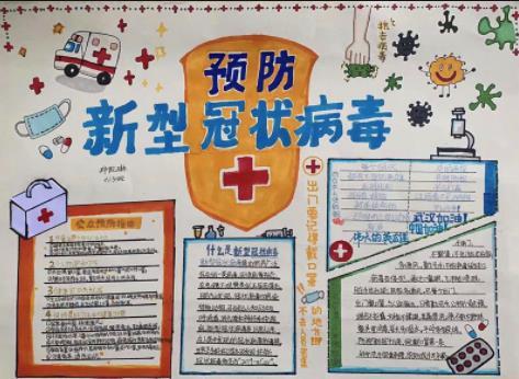 抗击病毒疫情小学生手抄报图片 为抗击疫情加油正能量句子