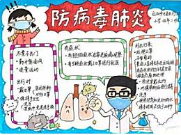 抗击新型冠状病毒标语 预防新冠病毒肺炎标语手抄报图片资料