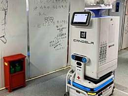 雷神山机器人上岗减轻医护工作负担 全自动完成消毒和医疗物品配送