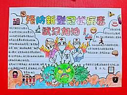 小学生关于抗击疫情武汉加油手抄报 众志成城抗疫情最新手抄报
