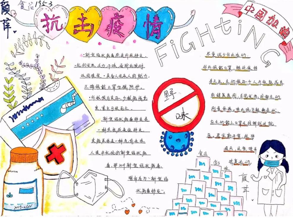 小学生抗击疫情武汉加油手抄报 抗击新冠病毒作文范文三篇