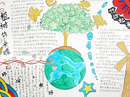 植树节手抄报一等奖作品10张 小学生植树节手抄报获奖作品图片