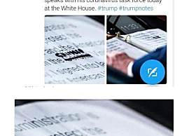特朗普发言稿被曝 稿件中新冠病毒被划掉手写改成中国病毒