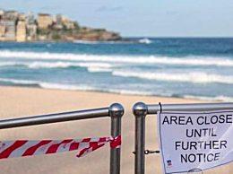澳大利亚邦迪海滩被关闭 曾有大量游客聚集