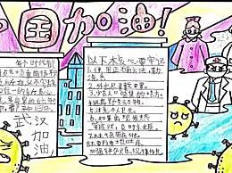 抗击新型冠状病毒手抄报简笔画 2020关于新冠肺炎疫情作文
