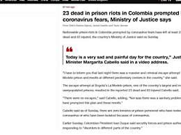哥伦比亚最大监狱发生暴动 造成23死83伤