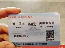 """湖南医疗队的特殊高铁票 特制""""凯旋号""""每个人都有一个专属贵宾号"""