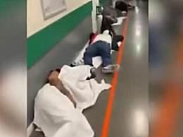 西班牙患者躺在走廊 画面让人心酸