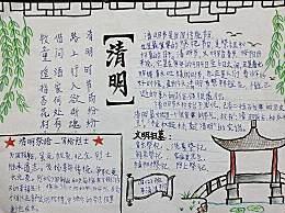 2020小学生清明节手抄报简单又漂亮 清明节手抄报一等奖