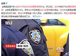纽约1天近3000名警察请病假 至少211名警察确诊感染