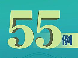 全国新增无症状感染55例