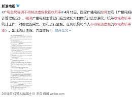 广电总局强调不得制造虚假收视收听率