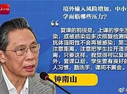 钟南山谈复课条件说了什么