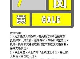 北京劲风黄色预警