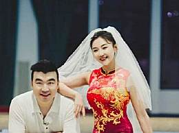 奥运冠军何雯娜晒婚纱照
