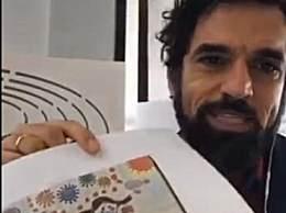 意大利议员展示中国儿童暖心画作
