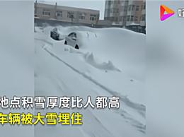 黑龙江等多地降雪 齐齐哈尔积雪2米堵家门 居民只能翻窗爬出
