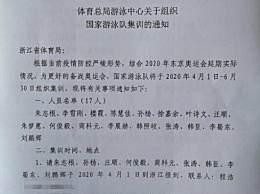 孙杨入选中国游泳队奥运集训名单 跟随朱志根教练在浙江训练