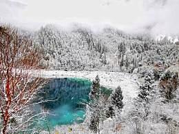 九寨沟连续三天下雪 白茫茫一片,美得像童话世界一般