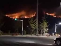 青岛山火复燃居民紧急撤离