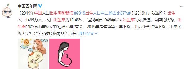 2015年出生人口_2019年中国人口出生率创新低出生人口中二孩占比57%