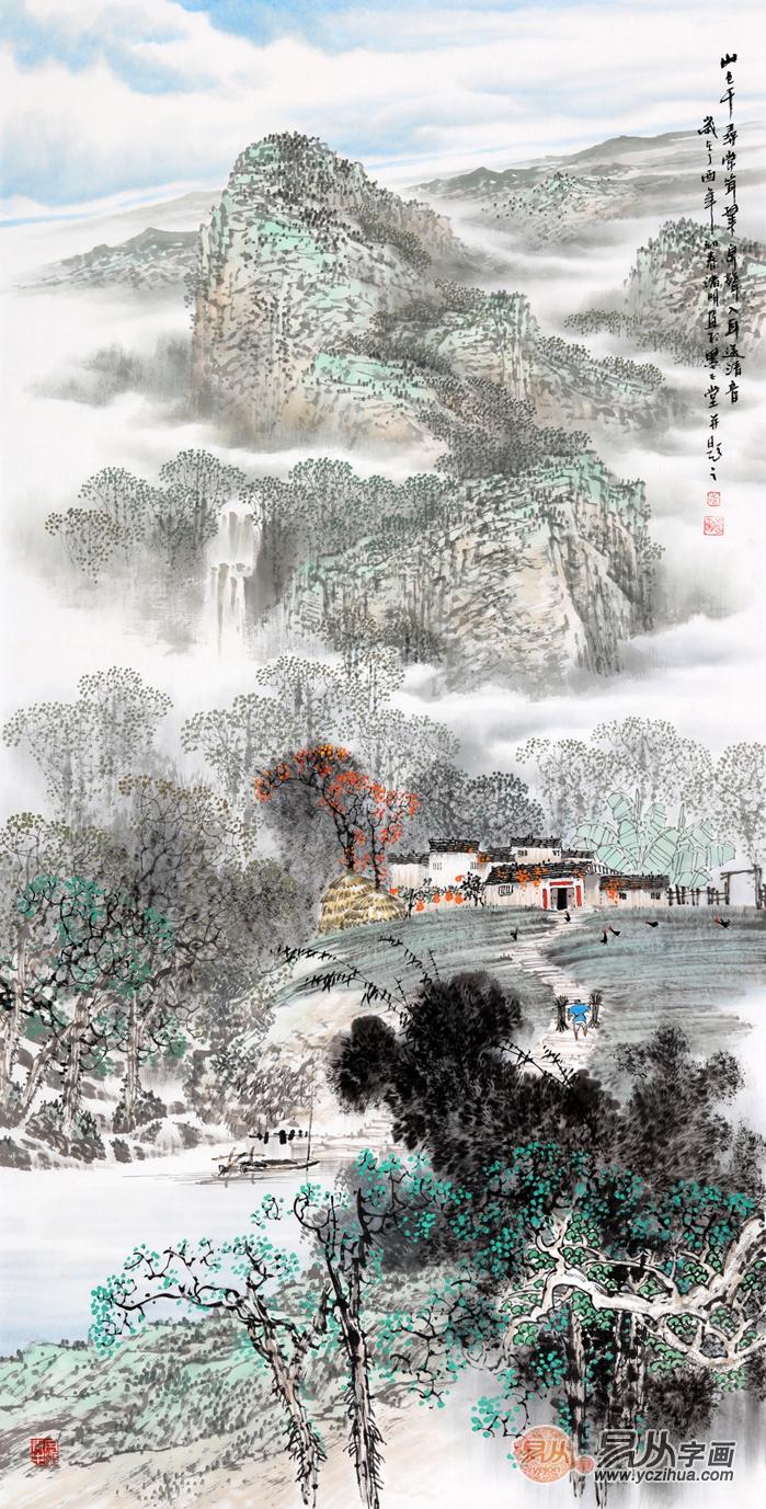 诸明江南山水画欣赏,画里诗境 沉醉千年